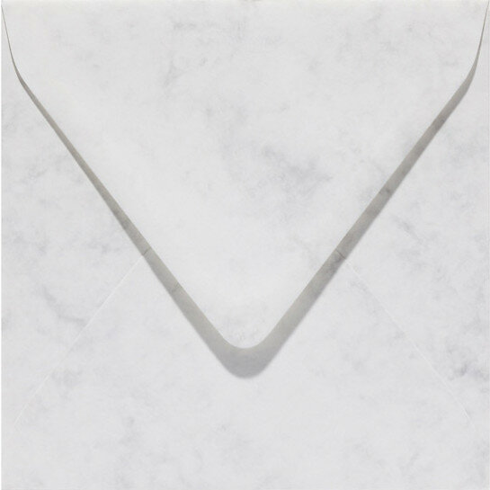(No. 24061) 50x envelop Marble 160x160mm grijswit 90 grams