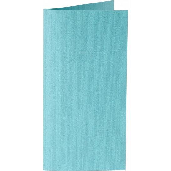 (No. 242904) 50x kaart dubbel staand Original 115x175mm azuurblauw 200 grams