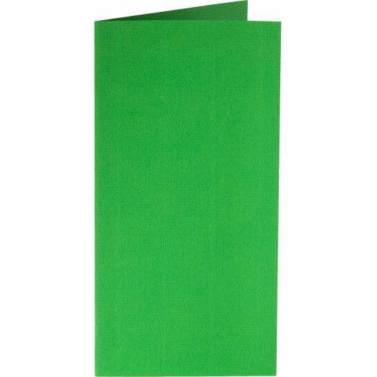 (No. 220907) 50x kaart dubbel staand Original 105x210mm-A5/6 grasgroen 200 grams