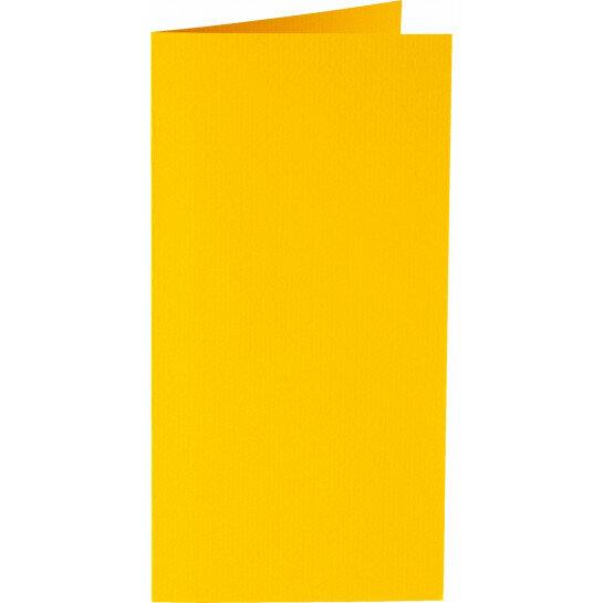 (No. 220910) 50x kaart dubbel staand Original 105x210mm-A5/6 dottergeel 200 grams