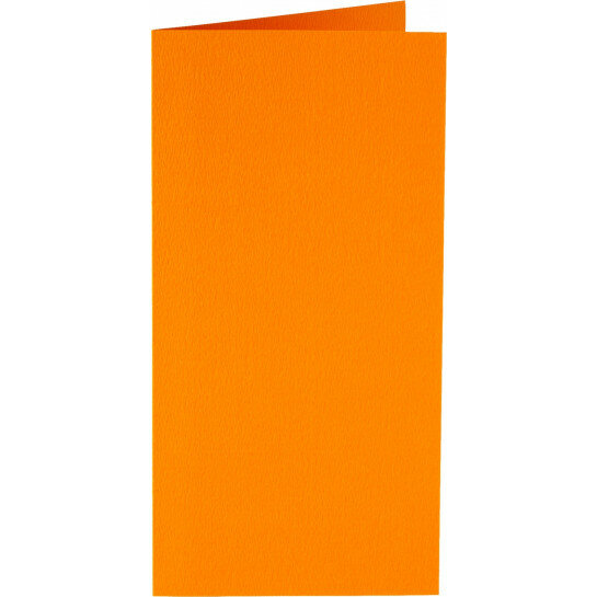 (No. 312911) 6x kaart dubbel staand Original 105x210mmA5/6 oranje 200 grams (FSC Mix Credit)
