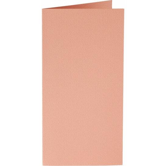 (No. 242924) 50x kaart dubbel staand Original 115x175mm abrikoos 200 grams