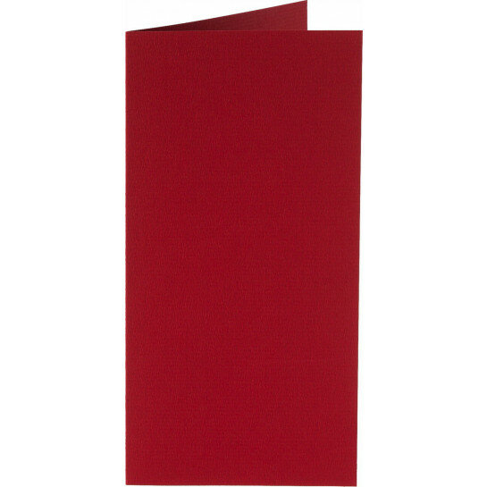 (No. 220943) 50x kaart dubbel staand Original 105x210mm-A5/6 kerstrood 200 grams
