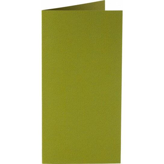 (No. 327951) 6x kaart dubbel staand Original 115x175mm mosgroen