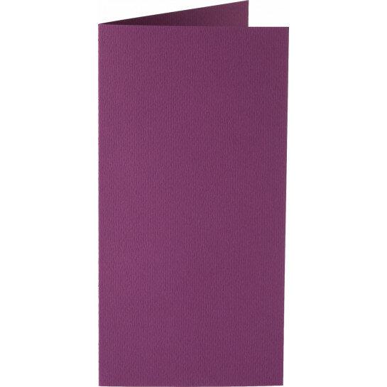 (No. 220909) 50x kaart dubbel staand Original 105x210mm-A5/6 aubergine 200 grams