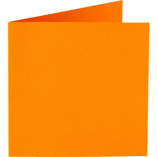 (No. 311911) 6x kaart dubbel Original 152x152mm oranje 200 grams (FSC Mix Credit)