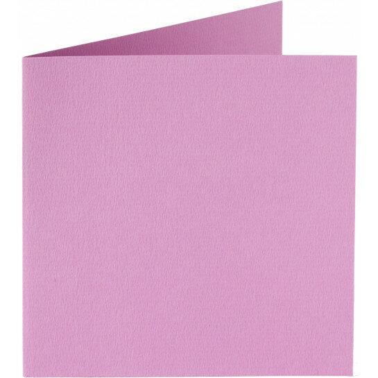 (No. 248914) 50x kaart dubbel staand Original 152x152mm lila 200 grams