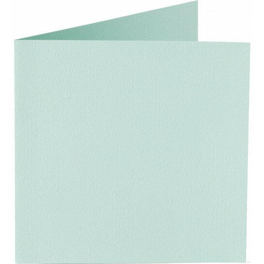 (No. 248917) 50x kaart dubbel staand Original 152x152mm zeegroen 200 grams