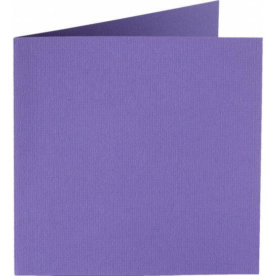 (No. 248946) 50x kaart dubbel staand Original 152x152mm paars 200 grams