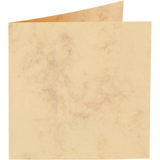 (No. 31063) 6x kaart dubbel Marble 132x132mm okergeel 200 grams