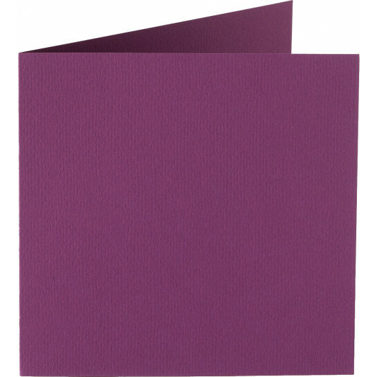(No. 310909) 6x kaart dubbel Original 132x132mm aubergine 200 grams (FSC Mix Credit)