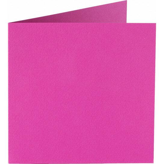 (No. 248912) 50x kaart dubbel staand Original 152x152mm felroze 200 grams