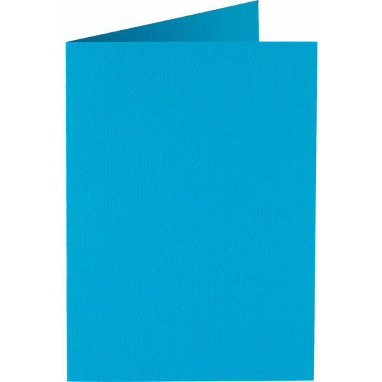 (No. 327949) 6x kaart dubbel staand Original 115x175mm hemelsblauw