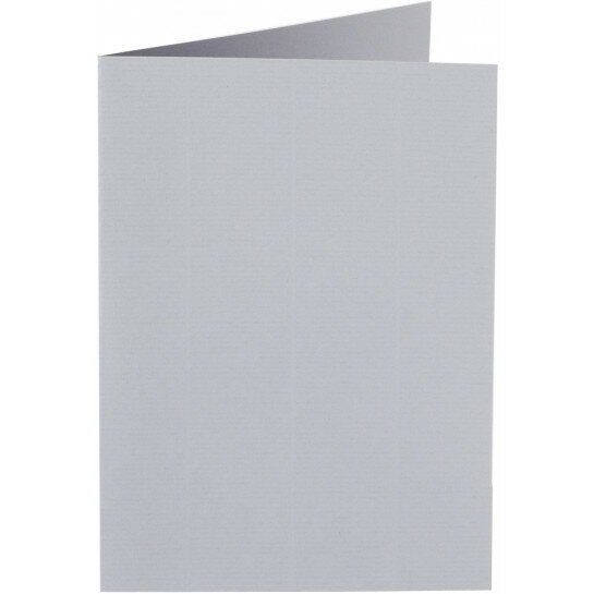 (No. 222958) 50x kaart dubbel staand 105x148mm- A6 grijs 200 grams (FSC Mix Credit)