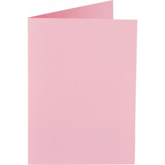 (No. 327959) 6x kaart dubbel staand Original 115x175mm babyroze