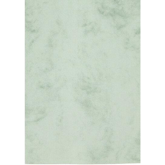 (No. 30166) 6x karton Marble 210x297mm-A4 blauwgroen 200 grams