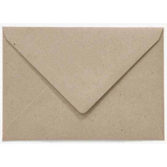 (No. 237322) 50x envelop C6 recycled kraft grijs 114 x 162 mm - 100 grams (FSC Recycled 100%)