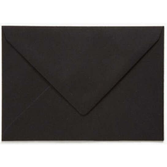 (No. 237324) 50x envelop C6 recycled kraft zwart 114 x 162 mm - 100 grams (FSC Recycled Credit)