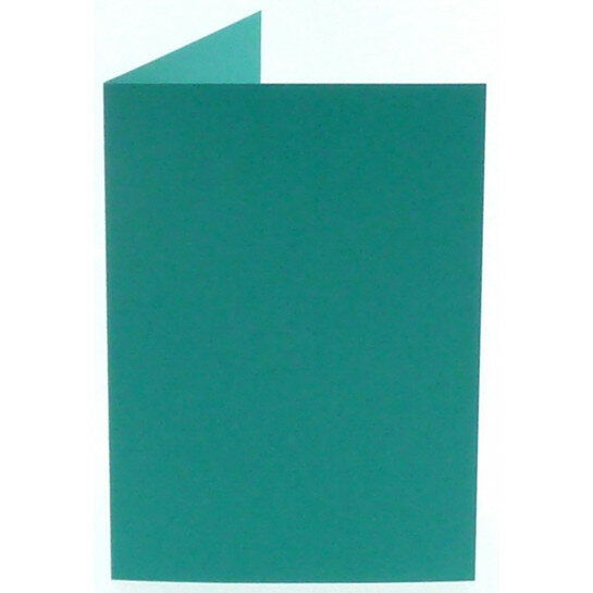 (No. 206966) 50x kaart dubbel staand Original 148x210mm A5 turquoise 200 grams (FSC Mix Credit)