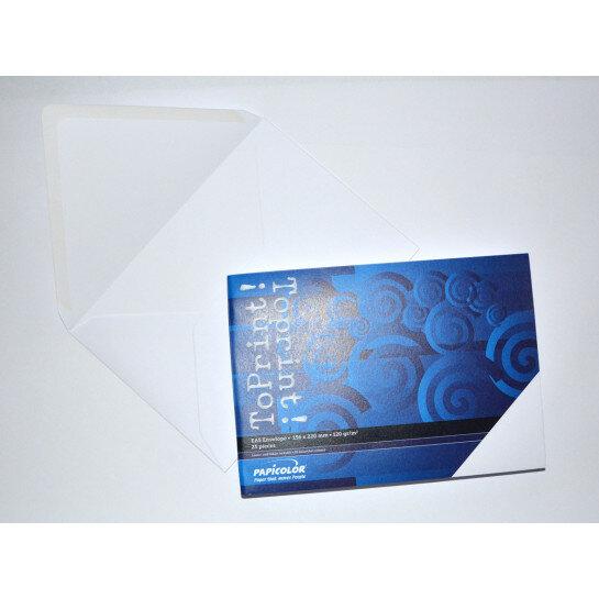 (No. 2358300) 25x envelop 156x220mm-A5 ToPrint wit 120 grams (FSC Mix Credit)