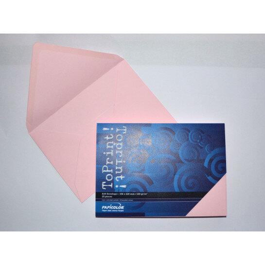 (No. 2358302) 25x envelop 156x220mm-A5 ToPrint roze 120 grams (FSC Mix Credit)