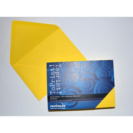 (No. 2378305) 25x envelop 114x162mm-C6 ToPrint geel 120 grams (FSC Mix Credit)