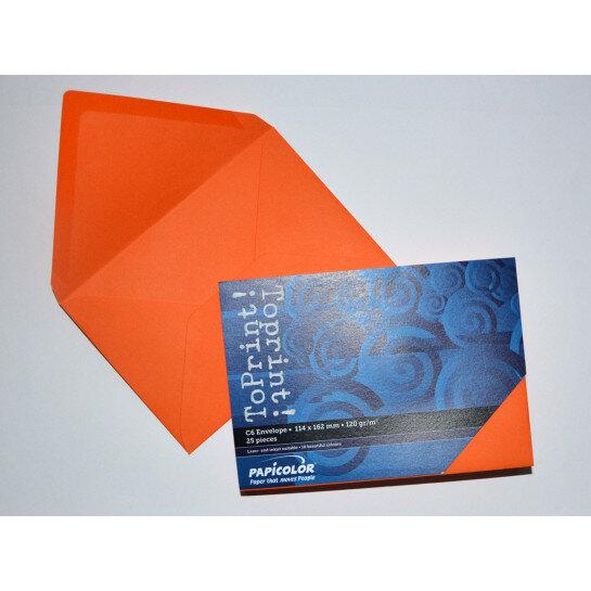 (No. 2378308) 25x envelop 114x162mm-C6 ToPrint orange 120 grams (FSC Mix Credit)