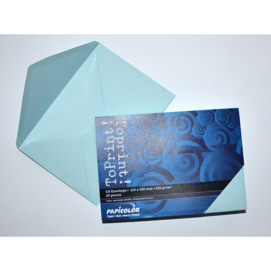 (No. 2378314) 25x envelop 114x162mm-C6 ToPrint lichtblauw 120 grams (FSC Mix Credit)