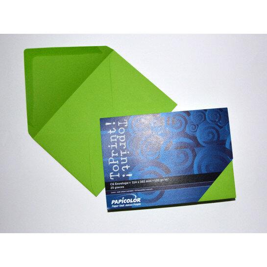 (No. 2378318) 25x envelop 114x162mm-C6 ToPrint grasgroen 120 grams (FSC Mix Credit)