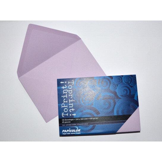 (No. 2378336) 25x envelop 114x162mm-C6 ToPrint lila 120 grams (FSC Mix Credit)
