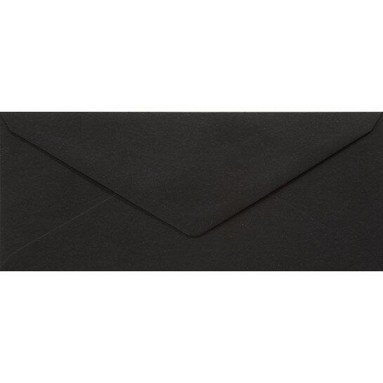 (No. 238324) 50x envelop 110x220mm- DL Recycled Kraft Zwart 100 grams (FSC Recycled Credit)