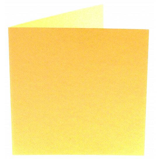 (No. 248963) 50x kaart dubbel staand Original 152x152mm vanille 200 grams