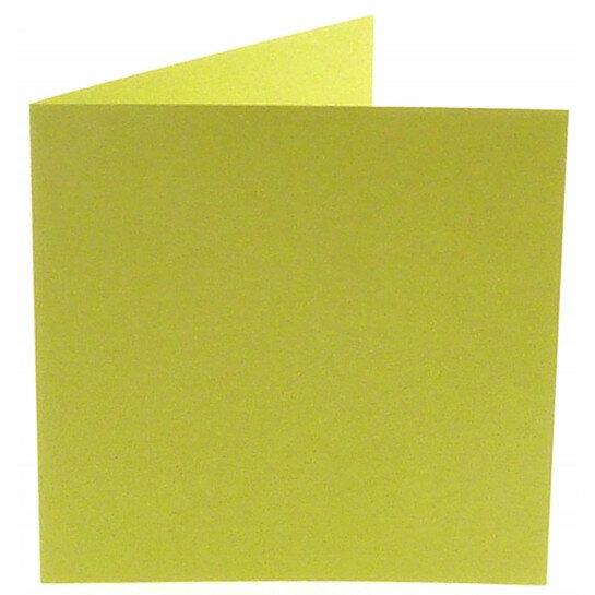 (No. 248970) 50x kaart dubbel staand Original 152x152mm zachtgroen 200 grams