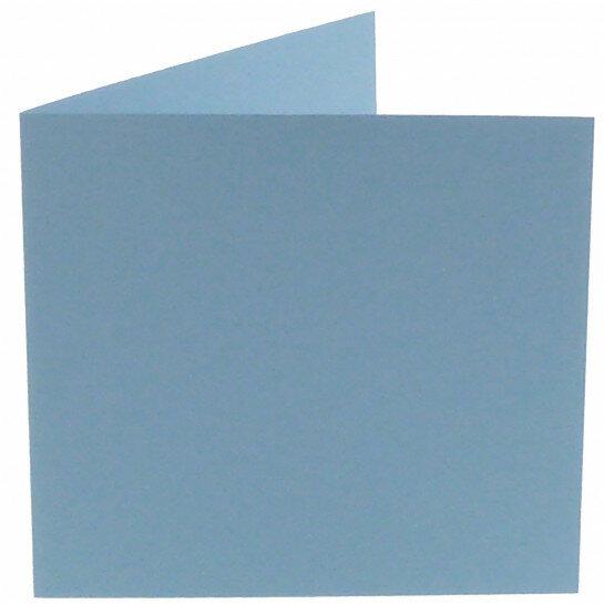 (No. 260964) 50x kaart dubbel Original 132x132mm lichtblauw 200 grams