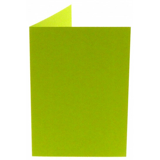 (No. 309967) 6x kaart dubbel staand Original 105x148mm A6 appelgroen 200 grams (FSC Mix Credit)