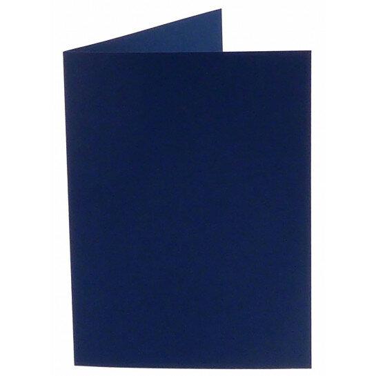 (No. 242969) 50x kaart dubbel staand Original 115x175mm marineblauw 200 grams