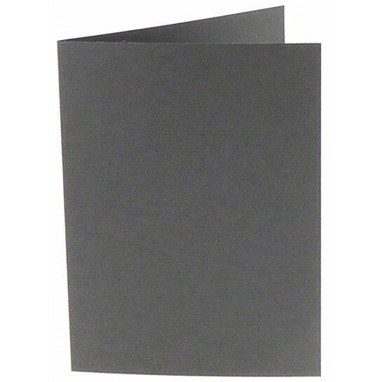 (No. 309971) 6x kaart dubbel staand Original 105x148mm A6 donkergrijs 200 grams (FSC Mix Credit)