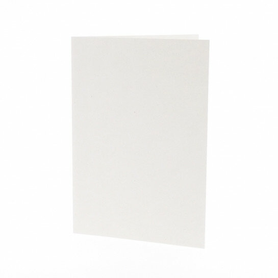 (No. 206321) 50x kaart dubbel staand 148x210mm- A5 Recycled Kraft Wit 220 grams (FSC Recycled Credit)