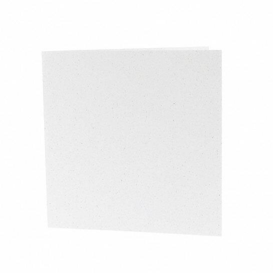 (No. 260321) 50x Dubbele kaart 132x132mm kraft wit 220 grams (FSC Recycled Credit)
