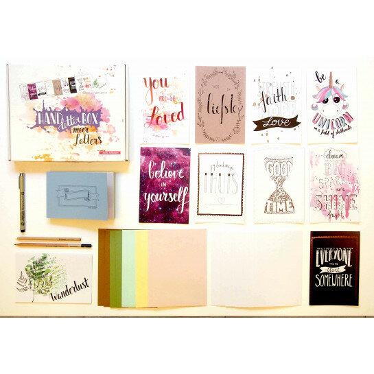 (No. 810005) DIY Handletterbox 'Meer met Letters' Studio Suikerzoet (zonder boek) - OP=OP -