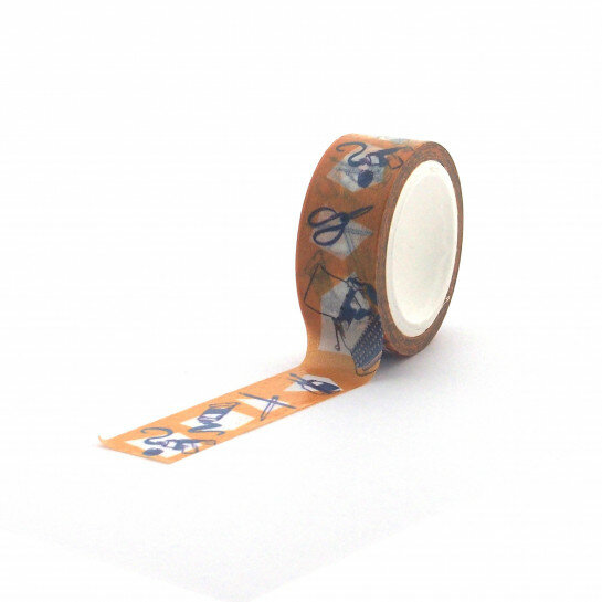 (No. 830901) Washi tape Graphic Typewriter