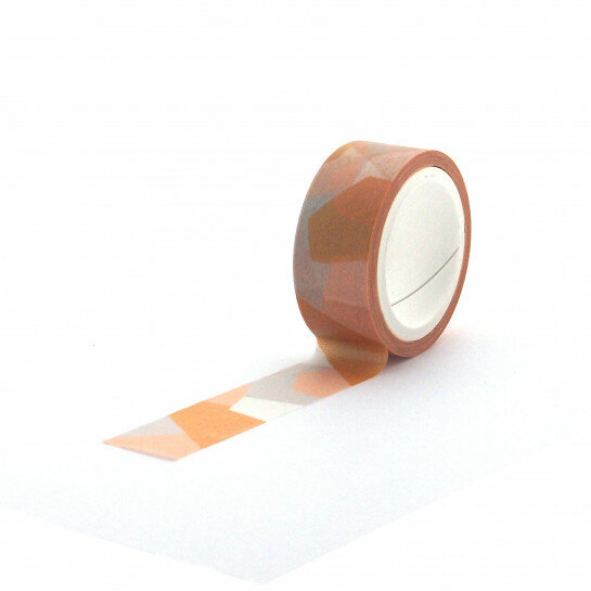 (No. 830902) Washi tape Graphic Yellow Pattern