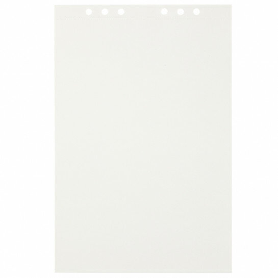 (Art.no. 920708) 20 vel MyArtBook Paper 120 GSM Offwhite drawingpaper Size 210 x 314 mm (A4) - 6 punch holes - perforation