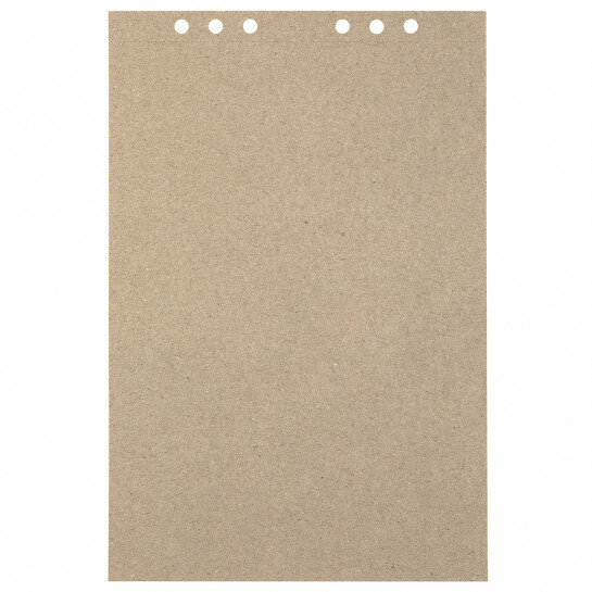 (Art.no. 920709) 20 vel MyArtBook Paper 110 GSM Recycling Kraft Fluting Grey Size 210 x 314 mm (A4) - 6 punch holes - perforation