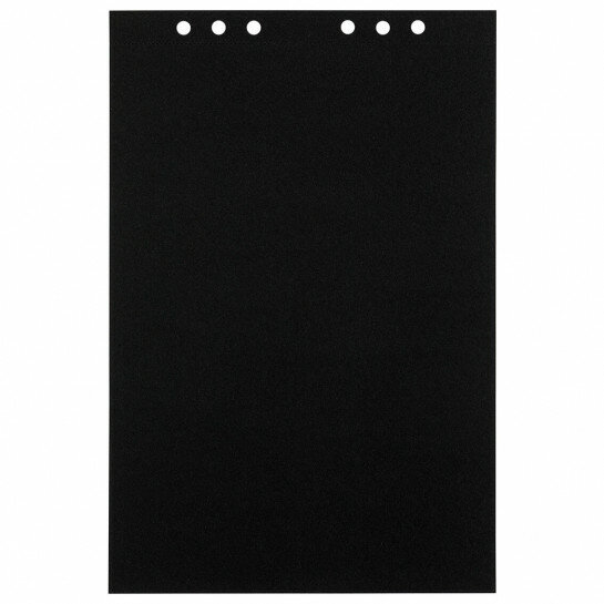 (Art.no. 920711) 10 vel MyArtBook Paper 210 GSM Black drawingpaper Size 210 x 314 mm (A4) - 6 punch holes - perforation
