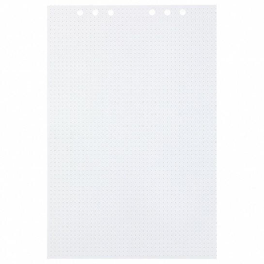 (Art.no. 920712) 25 vel MyArtBook Paper 150 GMS Dotted Paper Size 210 x 314 mm (A4) - 6 punch holes - perforation