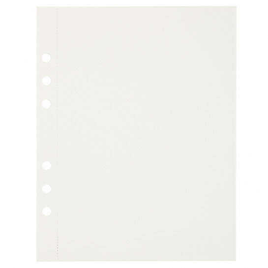 (Art.no. 920802) 10 vel MyArtBook Paper 300 GSM Offwhite Paper Size 165 x 210 mm (A5) - 6 punch holes - perforation