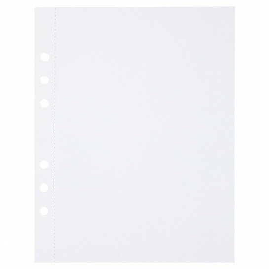 (Art.no. 920803) 10 vel MyArtBook Paper 300 GSM White Paper Size 165 x 210 mm (A5) - 6 punch holes - perforation