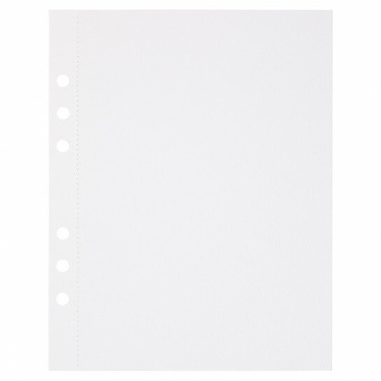 (Art.no. 920804) 10 vel MyArtBook Paper 350 GSM Ultrawhite Watercolour Paper Size 165 x 210 mm (A5) - 6 punch holes - perforation