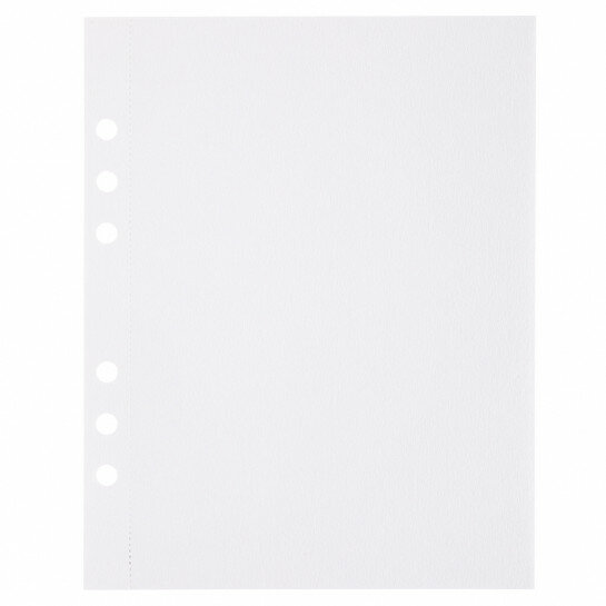 (Art.no. 920805) 10 vel MyArtBook Paper 200 GSM Ultrawhite Watercolour Paper Size 165 x 210 mm (A5) - 6 punch holes - perforation